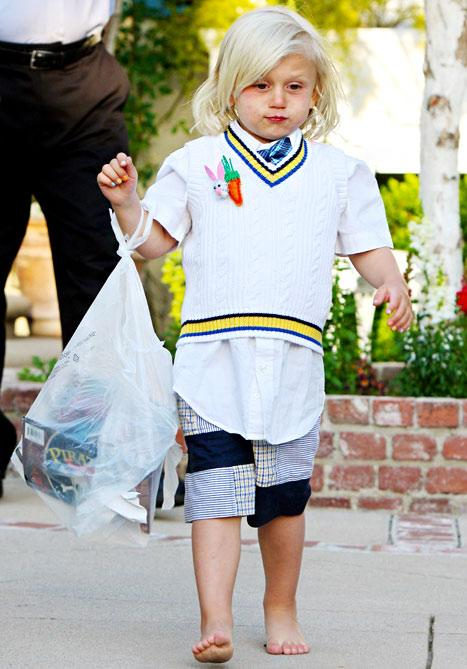 PICS: Aww! See Kingston and Zuma Rossdale's Matching Easter Outfits