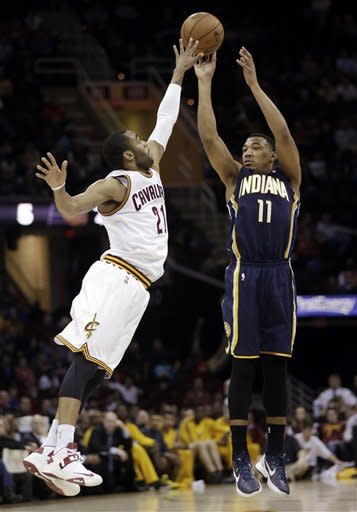 Green, Hansbrough lead Pacers past Cavs, 111-90