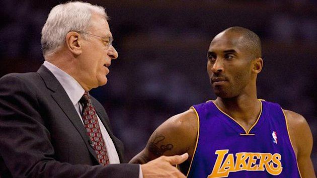 BASKET 2010 Lakers - Phil Jackson et Kobe Bryant
