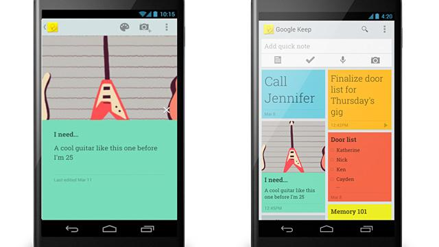 'Google Keep' Keeps Your Phone and Web Notes Synced
