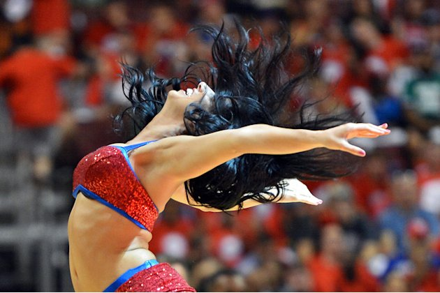 A Philadelphia 76ers Dream Team Dancer Performs Getty Images