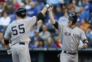 Overbay, Suzuki power Yankees past Royals, 11-6