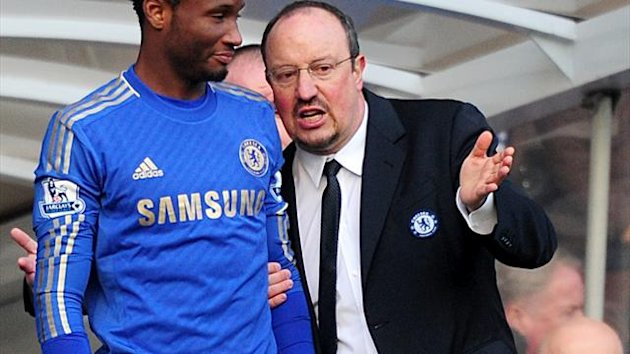 John Obi Mikel felt manager Rafael Benitez, right, had the right influence on Chelsea