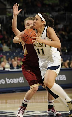 McBride paces No. 2 Irish women over BC 95-53