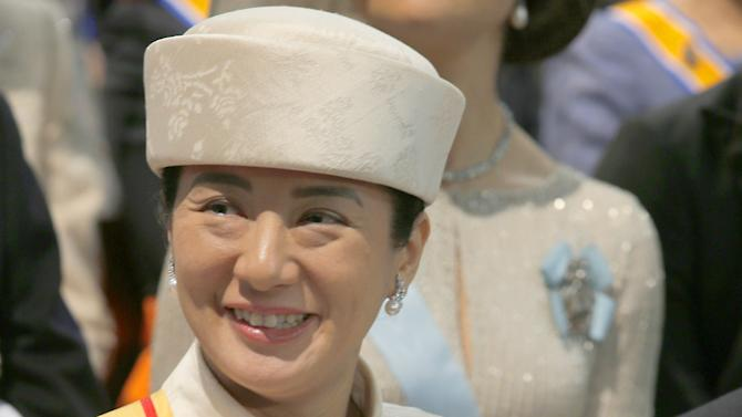 Japan's Crown Princess Masako during the inauguration of Dutch King Willem-Alexander, Tuesday April 30, 2013. Around a million people are expected to descend on the Dutch capital for a huge street party to celebrate the first new Dutch monarch in 33 years. (AP Photo/Peter Dejong, Pool)