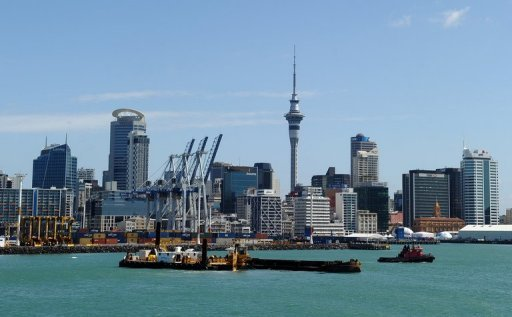 <p>A general shot of the Auckland skyline. New Zealand's inflation slipped to a 13-year low of 0.8 percent in the year to September, official data showed Tuesday, taking it below the central bank's 1.0-3.0 percent target band.</p>
