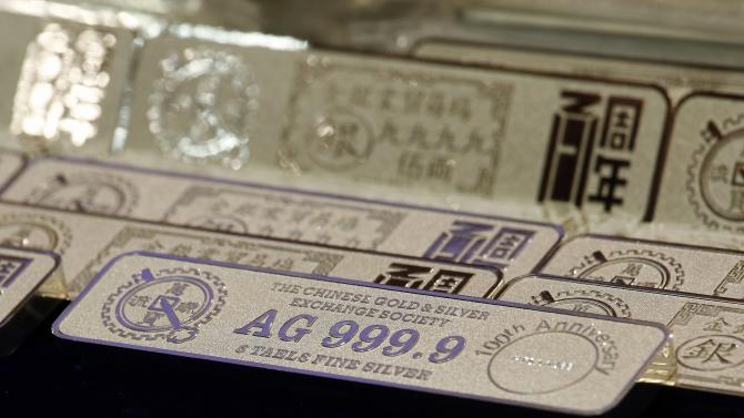 New five-tael silver bars are introduced at the Chinese Gold and Silver Exchange Society in Hong Kong