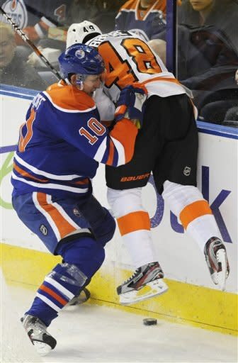 Oilers cool off Flyers with 2-0 win