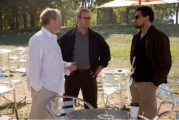 Director Ridley Scott Russell Crowe Leonardo DiCaprio Body of Lies Production Stills Warner Bros. 2008