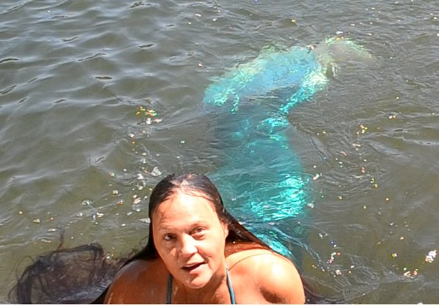 American Jolene Oldham, 53, has been swimming with mermaid tails for the last 30 years. (Photo courtesy of Jolene Oldham)