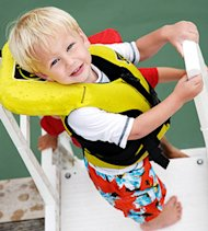 Boy Wearing Life Jacket