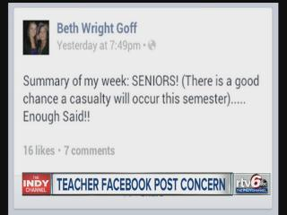 Parent files complaint with sheriff over teacher's Facebook post