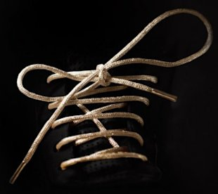 These gold shoe laces cost $19,000. Photo courtesy of mr-kennedy.com