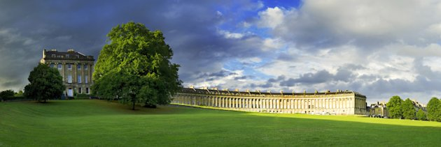 The Royal Crescent, Bath: The shaft of glorious late-afternoon light which illuminates Alex Hare's photo only lasted a couple of minutes, but was enough for his eye-catching image, for which he was hi