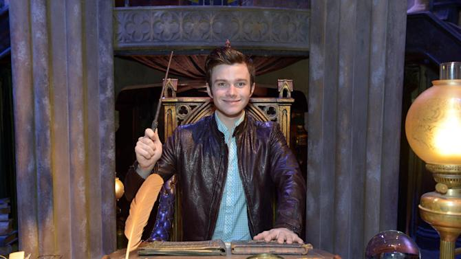 IMAGE DISTRIBUTED FOR WARNER BROS. STUDIO LONDON - Chris Colfer seen at the Summer Spell-tacular showcase at Warner Bros. Studio Tour London - The Making of Harry Potter on Wednesday, June 19, 2013. (Photo by Jon Furniss/Invision for Warner Bros. Studio London/AP Images)
