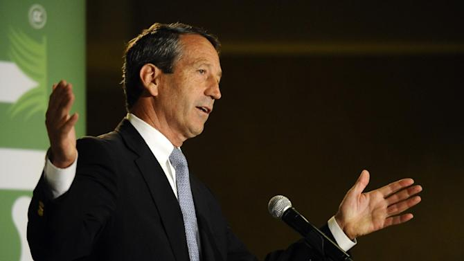 Former South Carolina Gov. Mark Sanford answers a question during the 1st Congressional District debate on Monday, April 29, 2013 in Charleston S.C. (AP Photo/Rainier Ehrhardt)