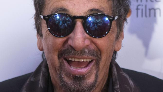 Al Pacino arrives on the red carpet at the 3rd Annual Charity Gala during the 2014 Toronto International Film Festival in Toronto on Wednesday, Sept. 3, 2014. (AP Photo/The Canadian Press, Chris Young)