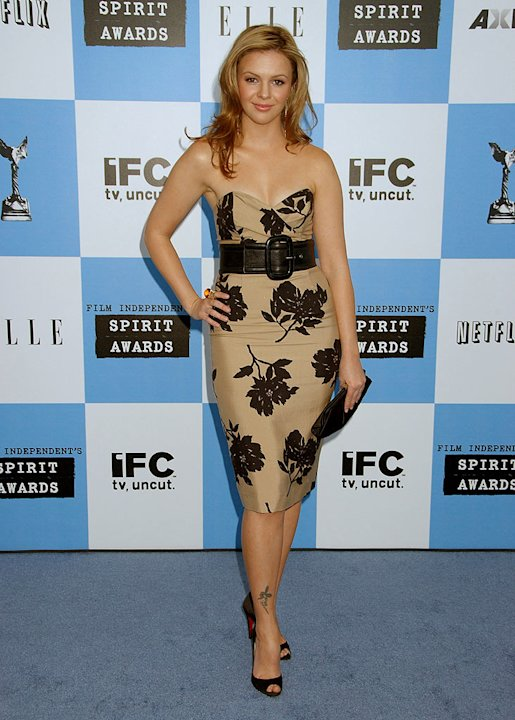 Amber Tamblyn, nominee Best Supporting Female for Stephanie Daley at the 2007 Film Independent's Spirit Awards. 