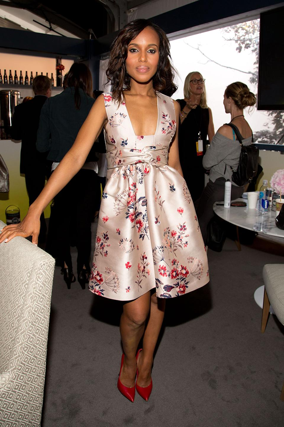 "Actress Kerry Washington attends the ""Project Runway"" fashion show on Friday, Sept. 6, 2012, during Fashion Week in New York. (Photo by Dario Cantatore/Invision/AP)"