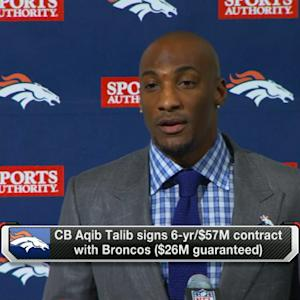 Denver Broncos introduce cornerback Aqib Talib