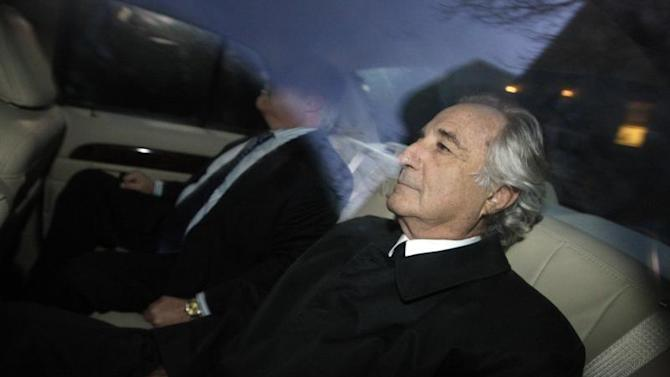 Bernard Madoff arrives home after a hearing at Federal Court, in New York