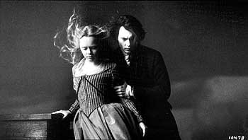 Christina Ricci and Johnny Depp in Paramount's Sleepy Hollow