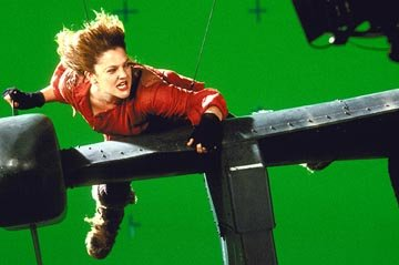 Drew Barrymore on the set of Columbia's Charlie's Angels: Full Throttle
