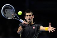 Serbia's Novak Djokovic, pictured here on November 11, is the only unbeaten player in this year's tournament with four successive wins and Roger Federer is looking forward to the challenge of ending that run