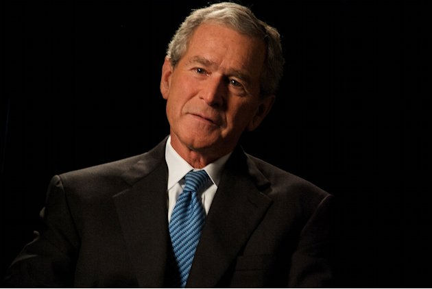 "George W. Bush during his interview about 9/11 as seen on ""George W. Bush:  The 9/11 Interview."""
