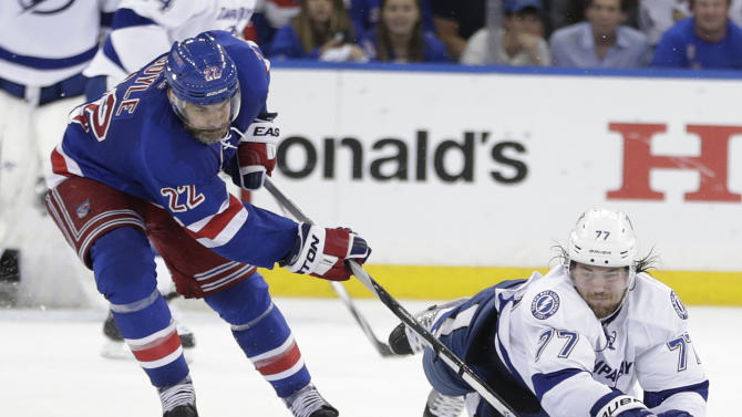 NY Rangers frustrated by Tampa's sudden shot-blocking ways