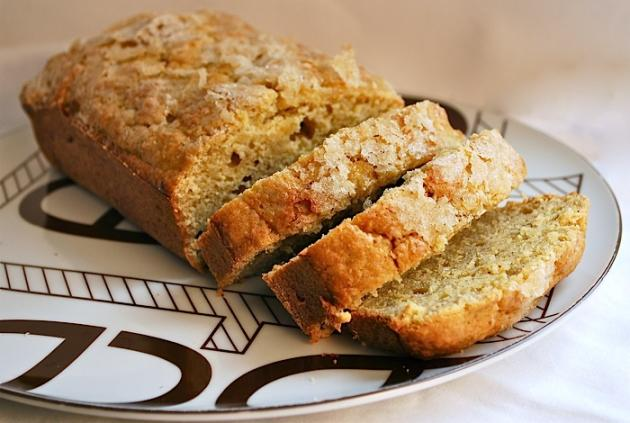 Brown Butter Banana Bread with Ginger