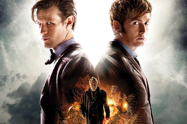 Matt Smith and David Tennant Meet on 'Doctor Who' 50th Anniversary Poster (Photo)