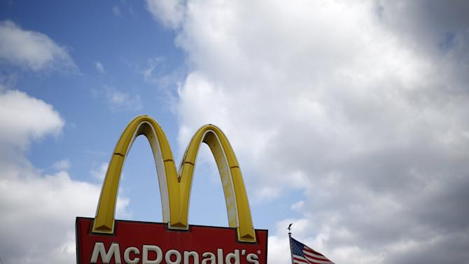 A McDonald's sign is seen outside one of its restaurants in Joliet