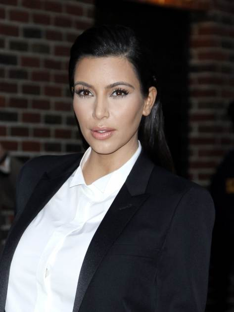 Kim Kardashian arrives for 'The Late Show with David Letterman' at Ed Sullivan Theater on January 16, 2013 -- Getty Images