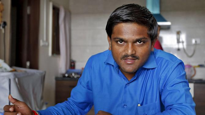Hardik Patel has breakfast during an interview with Reuters in Gandhinagar
