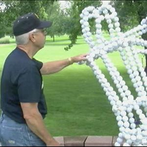 Iowa Man Builds Statue of a Golfer Out of Balls