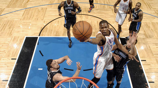Durant scores 38, Thunder beat Magic 105-102