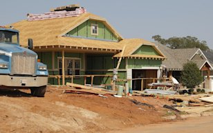 New home under construction: Credit AP