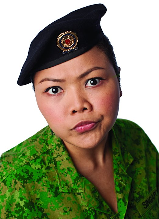 Siti Khalijah stars as Sgt Khatib in Army Daze: The Production (Photo courtesy of Event Clique)