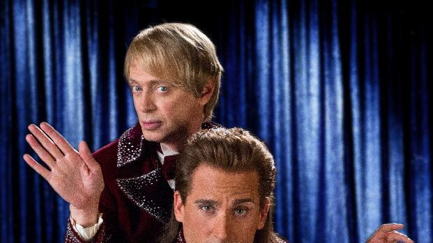 """This undated publicity photo released by Warner Bros. Pictures shows Steve Buscemi, left, as Anton Marvelton and and Steve Carell, as Burt Wonderstone, in New Line Cinema's comedy """"The Incredible Burt Wonderstone,"""" a Warner Bros. Pictures release. The Steve Carell magician comedy will kick off the annual South by Southwest film festival in Austin, Texas. It was announced Tuesday, Jan. 15, 2013, that the film will premiere as the opening night film on March 8.  (AP Photo, Warner Bros. Pictures, John P. Johnson)"""