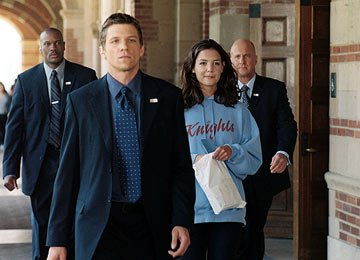 Dwayne Adway , Marc Blucas , Katie Holmes and Michael Milhoan in 20th Century Fox's First Daughter