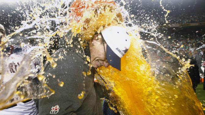 FILE - In this Nov. 28, 2010 file photo, Montreal Alouettes head coach Marc Trestman is doused with Gatorade after their Grey Cup win over the Saskatchewan Roughriders, in Edmonton, Alberta. The Bears have hired Trestman to replace the fired Lovie Smith, hoping he can get the most out of quarterback Jay Cutler and make Chicago a playoff team on a consistent basis. (AP Photo/The Canadian Press, Nathan Denette)