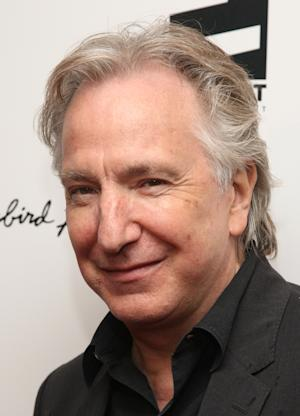 "FILE - In this April 26, 2010 file photo, actor Alan Rickman attends the premiere of ""Mother and Child"" at the Paris Theater in New York. Rickman returns to Broadway in Theresa Rebeck's play ""Seminar,"" opening Sunday, Nov. 20.  (AP Photo/Peter Kramer, file)"