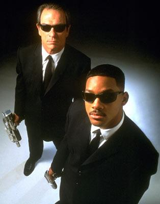 Tommy Lee Jones and Will Smith in Columbia Pictures' Men in Black