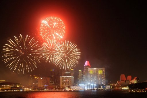 <p>Fireworks light up the skyline of Marina Bay to mark Singapore's National Day last week. Singapore, Hong Kong, Taiwan and South Korea are projected to be the world's richest economies on a per capita basis by 2050 as the region's rapid growth boosts wealth creation, a study shows.</p>