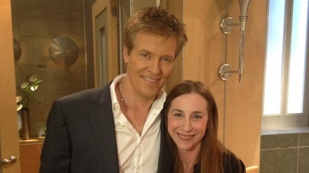 Jack Wagner and Access Hollywood producer Sharon Spaeth on the 'General Hospital' set, January 31, 2013  -- Access Hollywood