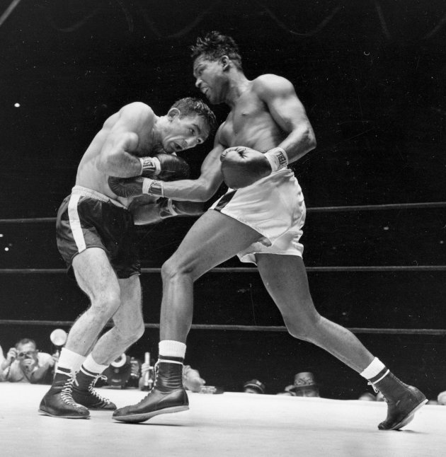 13. Sugar Ray Robinson KO5 Gene Fullmer, May 1, 1957 – Four months earlier, Robinson lost the middleweight title to Fuller in New York. They rematched in Chicago and Fullmer was again doing well when