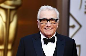 """Martin Scorsese, best director nominee for his film """"The Wolf of Wall Street"""", arrives at the 86th Academy Awards in Hollywood, California"""