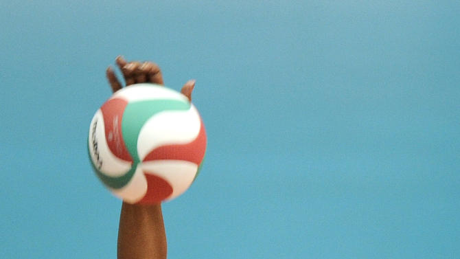 Gyselle de la Caridad Silva from Cuba spikes the ball during a women's volleyball final match against Brazil at the Pan American Games in Guadalajara, Mexico, Thursday, Oct. 20, 2011. (AP Photo/Daniel Ochoa de Olza)
