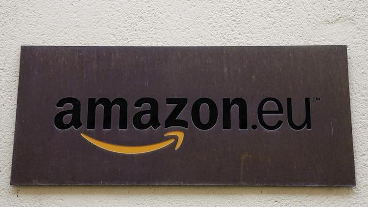 The logo of Amazon Europe Holding Technologies is seen in Luxembourg